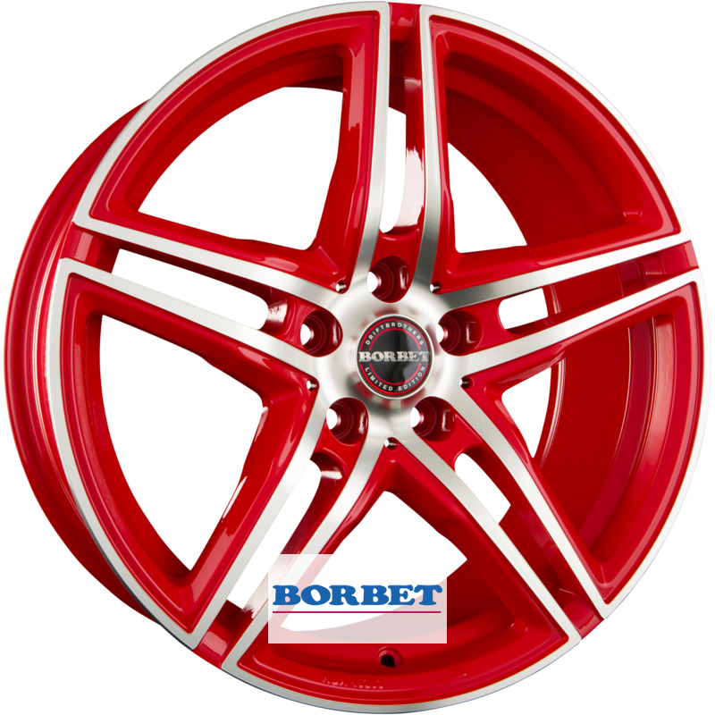 Диски Borbet XRT Red Polished