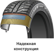 Bridgestone Ice Cruiser 7000 - конструкция шины